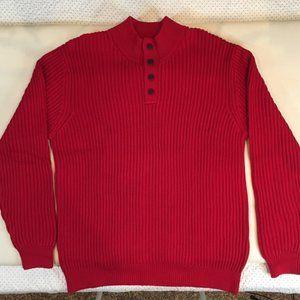 LL Bean Men's Red Sweater Heavyweight Cotton Sz XL